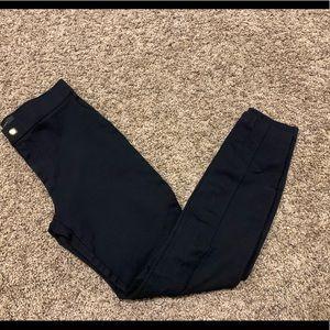 J Crew black pixie pants size 0